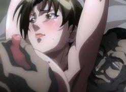 Boa mulher coroa sendo comida no hentay
